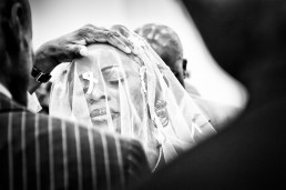 Emotional portrait of the bride