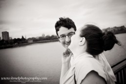 Black and White Engagement Photo Session